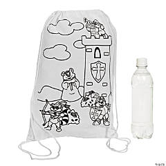 "Color Your Own ""Mighty Kingdom"" Backpacks"