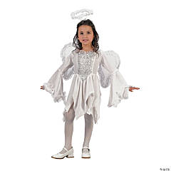 Girl's Velour Angel Costume