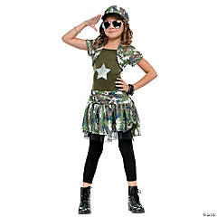 Army Brat Girl's Costume