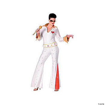 Elvis Female Jumpsuit Adult Women's Costume
