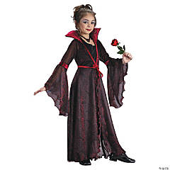 Goth Rose Girl's Costume