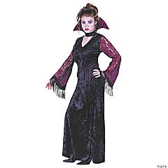 Gothic Lace Vampire Costume for Teen Girls