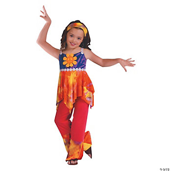 Hippie Tie Dye Girl's Costume