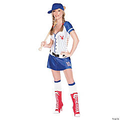 Playboy Homerun Hottie Adult Women's Baseball Costume