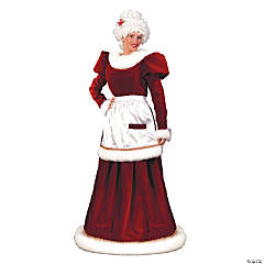 Mrs. Claus Velvet Dress Adult Women's Santa Costume