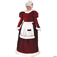 Mrs. Claus Velvet Plus Size Adult Women's Santa Costume