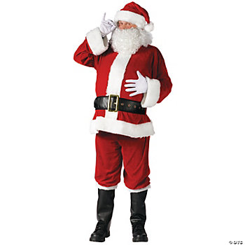 Santa Suit Complete Velour Plus Size Adult Men's Costume