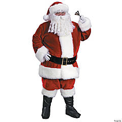 Santa Suit Premium Plush Adult Men's Costume