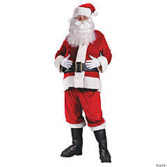 Rich Velvet Santa Suit Plus Size Adult Men's Costume