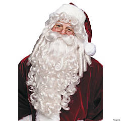 Super Deluxe Santa Wig And Beard
