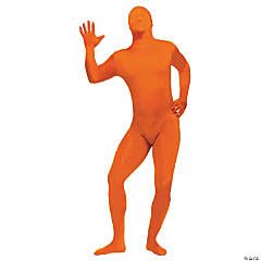 Skin Suit Orange Adult Men's Costume