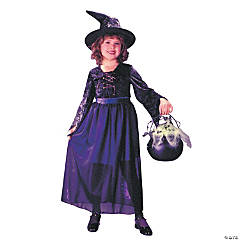 Storybook Witch Velvet Girl's Costume