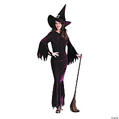 Witch Elegant Plum Adult Women's Costume