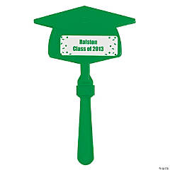 Personalized Green Congrats Grad Mortarboard Clappers