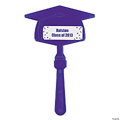 Personalized Purple Congrats Grad Mortarboard Clappers