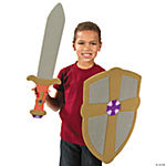 Shield With Cross & Sword Set