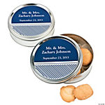 Personalized Nautical Wedding Cookie Tins