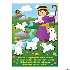 David with Sheep Sticker Scenes