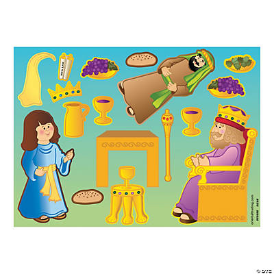 Queen Esther Sticker Scenes