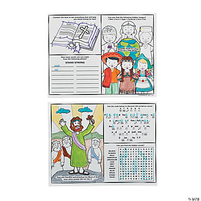 """Standing Strong For God"" Hidden Picture Activity Sheets"