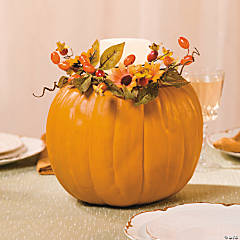 Fall Pumpkin Centerpiece Idea