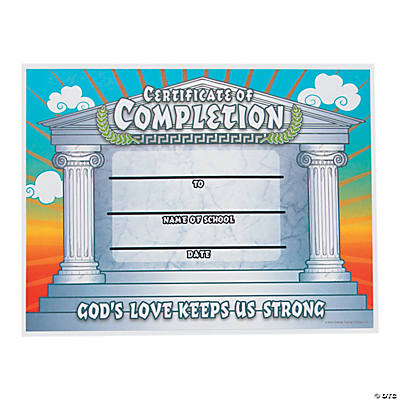 """Pillar of Strength"" Certificates of Completion"