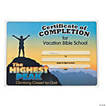 """Highest Peak"" Certificates Of Completion"