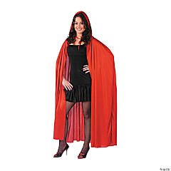 Cape Hooded Red Adult Costume