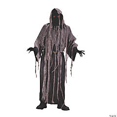 Gauze Zombie With Flashng Eyes Adult Men's Costume
