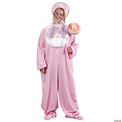 Pj Jammies Plus Size Pink Adult Women's Costume