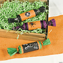 DIY Creepy Candy Cracker Halloween Favors Idea