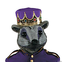 Mouse King Head With Purple Crown Mask