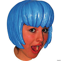 Blue Latex Anime Wig