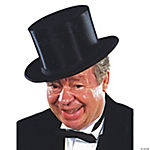 Extra Large Collapsible Black Top Hat