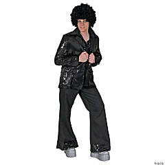 Black Disco Costume Jacket - Standard Adult Men's