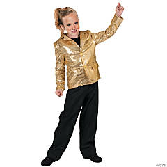 Kid's Gold Disco Jacket Costume