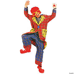 Plaid Pickles Clown Adult Men's Costume