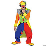 Spanky Stripes Clown Large Adult Men's Costume