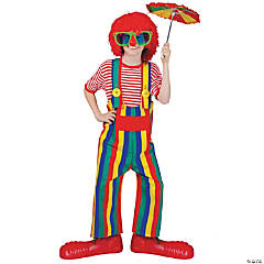 Striped Clown Overalls Child Kid's Costume