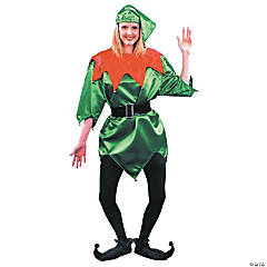 Elf Green With Bells Adult Costume