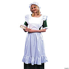 Pinafore Mob & Cap Adult Women's Costume