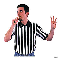 Shirt Referee Adult Men's Costume