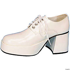 Patent Leather White Platform Shoes