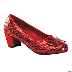 Girl's Red Sequin Shoes