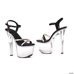 Black Sky High Clear High Heel Shoes