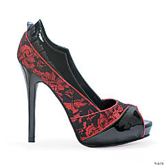 Spellbound Red & Black High Heel Shoes