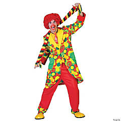 Bubbles Clown Adult Men's Costume