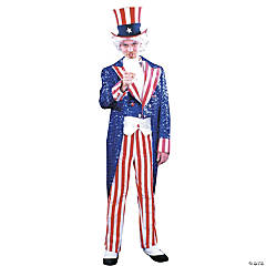 Uncle Sam Sequin Deluxe Adult Men's Costume