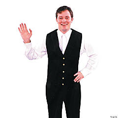Vest Black Adult Men's Costume
