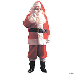 Plush Santa Suit Adult Men's Costume
